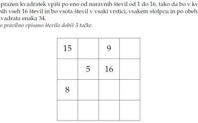 Šolsko tekmovanje iz razvedrilne matematike