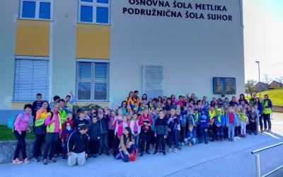 Športni dan in srečanje podružničnih šol